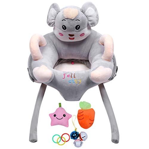 Tomaibaby Baby Lernen Sitzstühle mit Rassel Spielzeug Plüsch Baby Türsteher Unterstützung Boden Sitz Kissen Stuhl Sofa für Baby Kleinkind Kleinkind