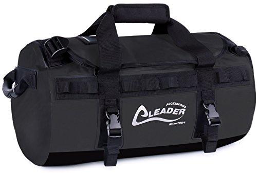 Leader Accessories - Mochila de lona impermeable de PVC (40 - 70 - 90 l), 70L, Negro