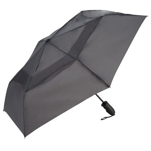 ShedRain Umbrellas Windjammer Vented Auto Open Auto Close Folding Umbrella, Charcoal, One Size