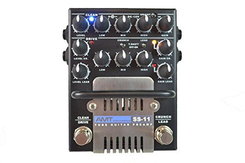 Best Buy! AMT Electronics SS-11 3-Channel Dual Tube Guitar Preamp Classic Mod