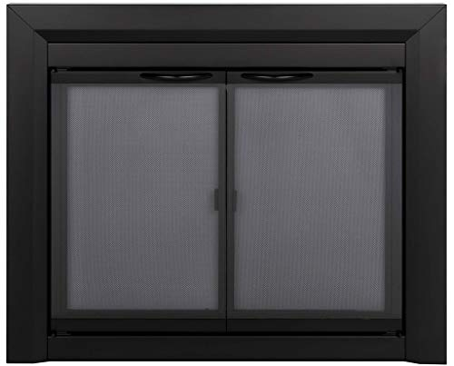 Pleasant Hearth Carlisle Fireplace Glass Door, Small (CL-3000)