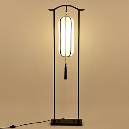 LightSei- Modern New Chinese Style Floor Lamp Atmosphere Iron Living Room Lights Bedroom Bedside Floor Lamp Study Vertical Lamps and Lanterns E27 Light Mouth