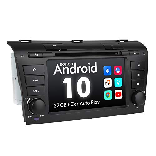 2021 Car Stereo Android10 Double Din Car Stereo Android Radio, Eonon Head Unit Car GPS Navigation Applicable to Mazda 3 2004-2009 Support Carplay/Android Auto//Fast Boot-7 Inch-GA9451