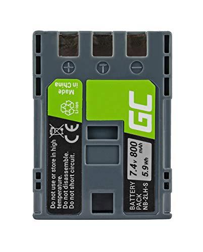 Green Cell® NB-2L NB-2LH Kamera-Akku für Canon EOS 350D 400D PowerShot G7 G9 S30 S40 S45 S50 S60 S70 S80 Digital Rebel XT XTI HV20 HV40 VIXIA HF R10, Full Decoded (Li-Ion Zellen 700mAh 7.4V)