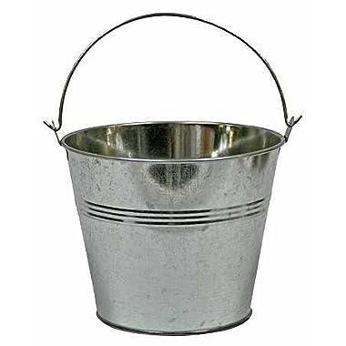 Set of 2-Galvanized Metal Pail Buckets Size: 6  Tall X 7-3/4  Diam