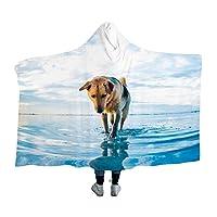 Cute Dog毛布、フランネル、マイクロファイバー、ラージフォーマット、ひざまずく、空調対策、帯電防止、抗菌、デオドラント、ふわふわ、肌にやさしい、薄く、軽量、洗える、暖かい、ファッショナブル、四季