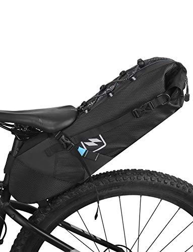 Lixada Bolsa de Sillín para Bicicleta Impermeable Bolsa Trasera de Bicicleta para MTB Bicicleta de Carretera 3-10L