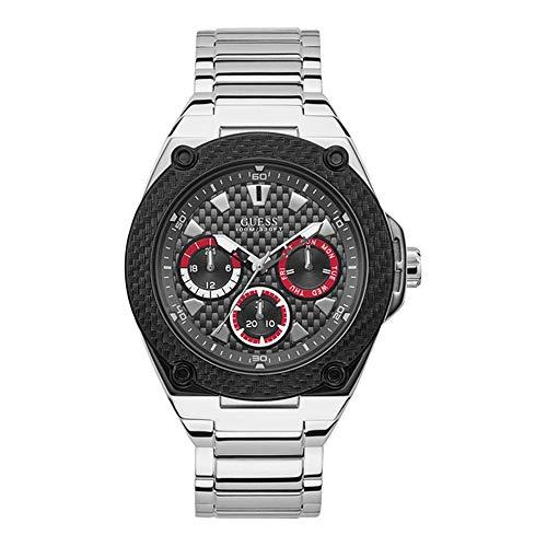 Guess Legacy - Armbanduhr - Herrenuhr - Multifunktion - Edelstahl - silberfarben/schwarz - poliert