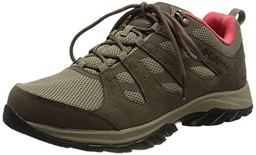 Columbia Redmond III Waterproof, Zapatillas para Caminar Mujer, Coral Rojo Guijarro, 39 EU