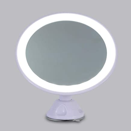 Round Base 8 inch 7X Magnification Cosmetic Makeup Shaving Mirror