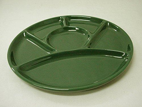 Desconocido Plato Salsera Salsa ENTREMESERO Ceramica Fondue 6 DIVISIONES Verde (Leer Antes LA DESCRIPCION del Estado DE Este Articulo)