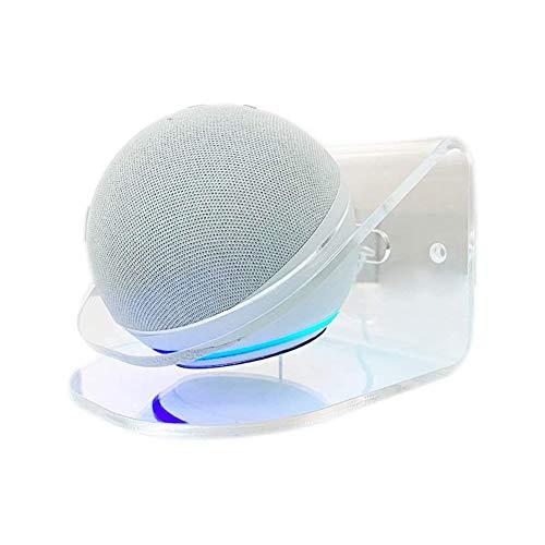 Nedoz Universelle Wandhalterungen für Der Neue Echo Dot (4. Generation) & Der Neue Echo (4. Generation)   Echo Dot (3. Gen.) Intelligenter Lautsprecher Wandständer (Transparent - A)