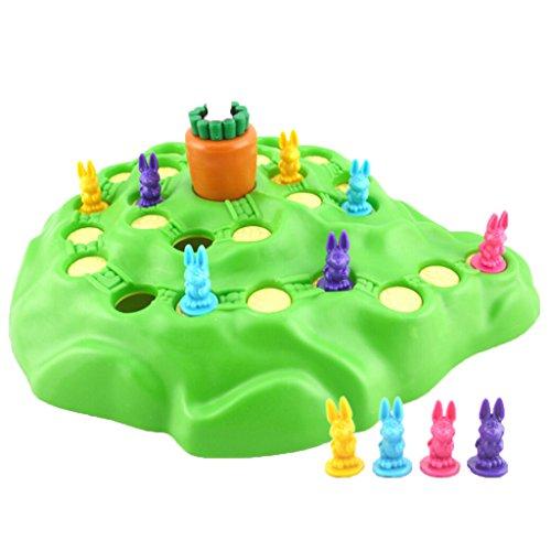 SM SunniMix Lustige Kaninchen Brettspiele Kinder Zählen Fähigkeiten Lernspielzeug