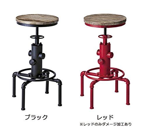 椅子/スツールバーチェアINDUSTRIALインダストリアルシリーズブラック色KNC-A812