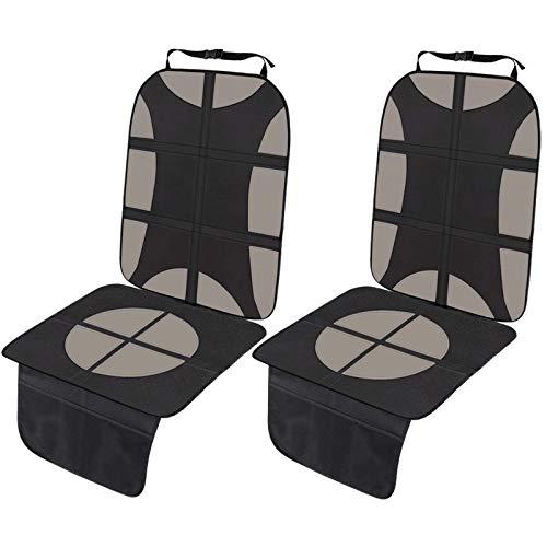 GUJIN Protector de Asientos de Coche Impermeable Fundas para sillas de coche Tamaño Universal para los Asientos de Coche de Bebé y Niño y Mascota Asiento de Coche Fácil de Limpiar (Beige, 2 Pcs)