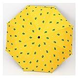 太陽と雨のデュアルユースの日傘、折りたたみ式の日焼け止め、UV保護の日傘に注意してくださいRain gear