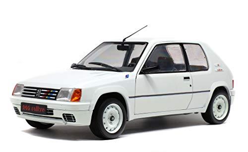 Solido 421184400 1:18 Peugeot 205 Rallye 1987 421184400-1, Modellauto, Modellfahrzeug, weiß