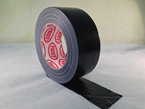 Yuzet - 1 Rullo di nastro adesivo nero per applicazioni idrauliche e rilegatura libri, 48 mm x 50 m
