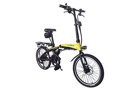 Helliot Bikes by Helliot 01 Bicicleta Eléctrica Plegable, Adultos Unisex, Amarillo/Negro, M-L