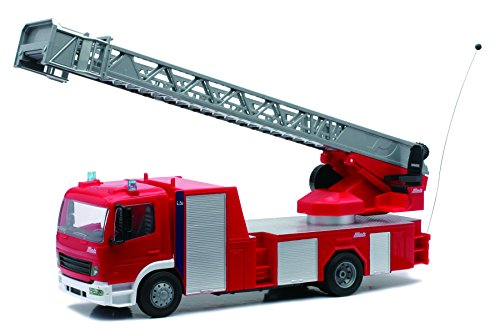New Ray - 87943 - Radio Commandes - Camion Pompier Mercedes Grande Echelle 1/22ème
