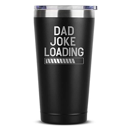 Taza de acero inoxidable aislada con tapa para hombre, cumpleaños, día del padre, Navidad, ideas de hija, hijo, esposa o padre, regalos de padre, idea para niños (16 oz)