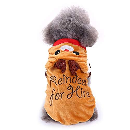 EUZeo Haustier Weihnachtenpullover Weihnachten Kleidung Welpen Hund Katze Gedruckt Hündchen Hundepullover Weihnachtshirts Hundebekleidung Pet Kleidung Mini Haustierpullover Cute Hundeshirts