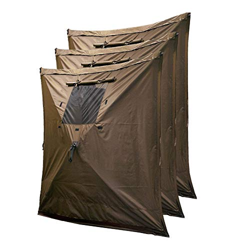 CLAM Quick-Set Wind and Sun Panel Attachment for Traveler, Venture, and Escape Screen Shelter Canopy Tent, Accessory Only, Brown (3 Pack)