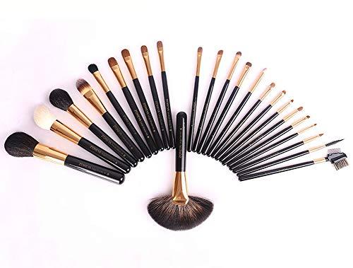 Pinceau de maquillage pour la beauté,24pcs pinceau de maquillage ensemble avec la boîte prime synthétique chèvre cheveux kony fondation fondant mélange professionnel pinceaux de maquillage kit-bl