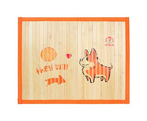SJASD Perros Gato Mascotas Alfombra Refrescante, Cama de Perro y Gato Verano Animales Manta de Dormir Fresco Cojín, Bambú Natural, Orange,M