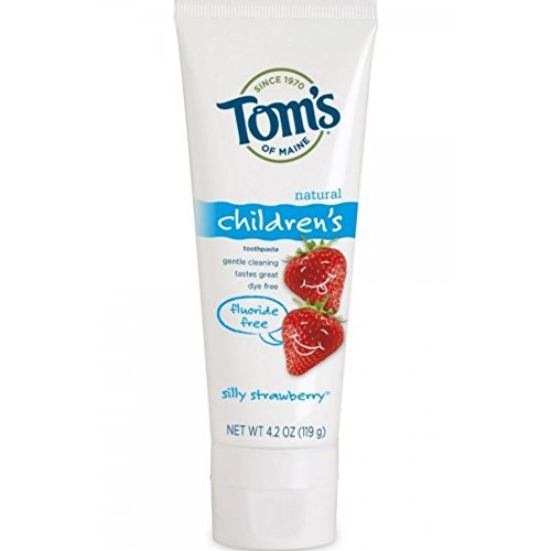 Tom's Of Maine Natural Children's Fluoride Free Toothpaste, Silly Strawberry 4.20 oz (Pack of 5)