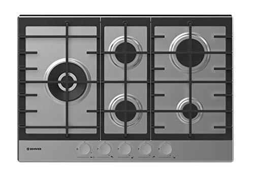 Hoover - Plaque de cuisson H-HOB 300 GAS HHG7WL5WSX, finition inox, 5 zones de cuisson, 12,2 kW