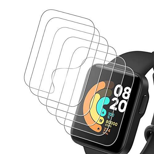 ELYCO [6 Pezzi] Xiaomi Mi Watch Lite Pellicola Protettiva, [Trasparente] Soft HD TPU Clear Pellicola [Resistente ai Graffi] Senza Bolle Pellicola Protettiva per Xiaomi Mi Watch Lite