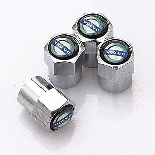 4 Piezas Coche Tapas de Válvula para Volvo V40 V50 V60 V70 S40 S60 S60l S70 S80 S90 Xc40 Xc60 Xc70 Xc80 Xc90, Cubiertas Impermeables de Prueba de Polvo Tapones de Válvula de Neumáticos