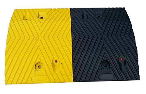 RSB-215MBY Rallentatori Stradali in Gomma Nera e Gialla Parte Mediana 50x35x5cm (Pacco da 1)