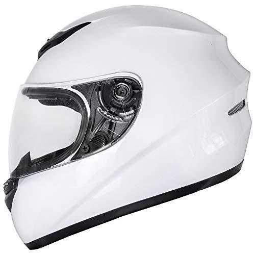 Zorax ZOR-819 White L (59-60cm) Full Face Motorbike Helmet Motorcycle...