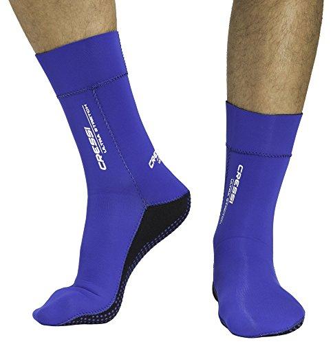 Cressi Herren Tauchsocken Ultra Stretch, blau, L - 44/47, XDF200122