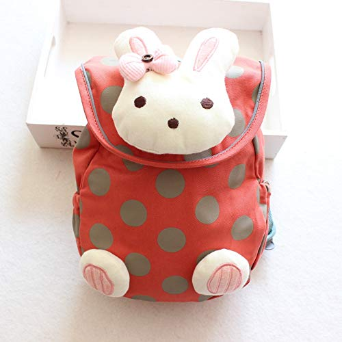 YUIOP Rucksack Baumwolle Kinder Rucksack Cartoon Bunny Kleinkind Anti-Lost Bag