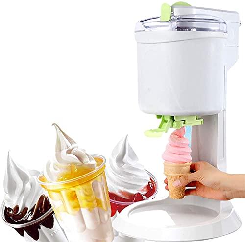 MNSSRN Mini Mini Máquina de Helados, Máquina de Helado de Fruta con congelación rápida 1L 1L Máquina de batido de Frutas DIY