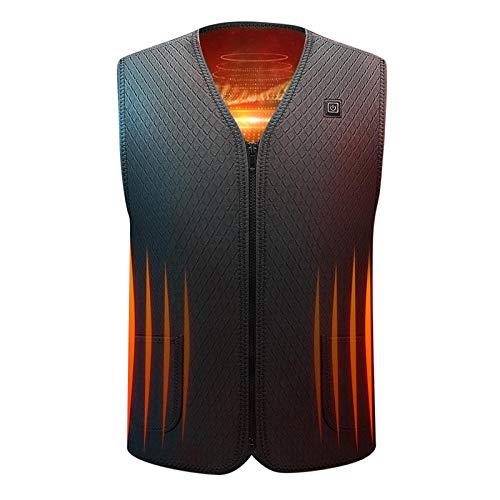 Weier. Ben Heren vesten Elektrische verwarming vesten Koude wasbare elektrische warme kleding mannen winter