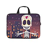 Laptop Bag Holloween Skeleton Durable Comfortable -HolloweenComputer Case Compatible with 13-15.6 inch MacBook Pro white 15 zoll