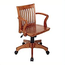 Scranton & Co Wood Bankers Office Chair with Wood Seat in Fruit Wood