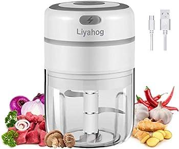Liyahog Electric Mini Garlic Wireless Food Slicer and Processor