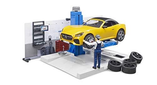 bruder 62110 Bworld PKW-Werkstatt, Mehrfarbig
