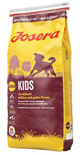 JOSERA Kids, Welpenfutter für mittlere und große Rassen, ohne Weizen, Super Premium Trockenfutter für wachsende Hunde, 1er Pack (1 x 15 kg)