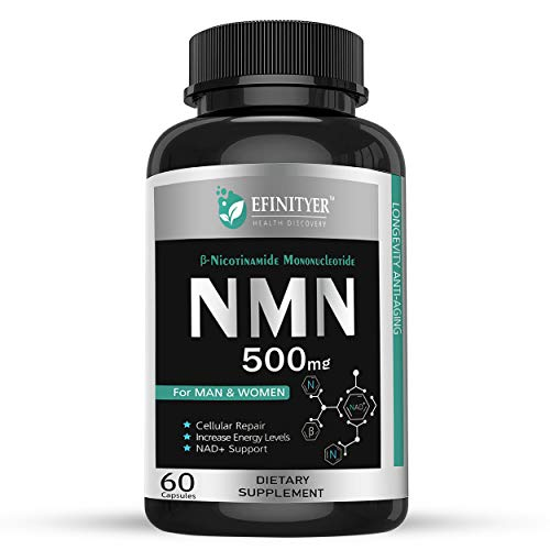 41QP2ul71xL - NMN Supplement, 500mg Nicotinamide Mononucleotide Per Serving Powerful NAD+ Precursor Naturally Boost NAD+ Levels Supplement for Anti-Aging Energy Metabolism Vegan Friendly 60 Capsules