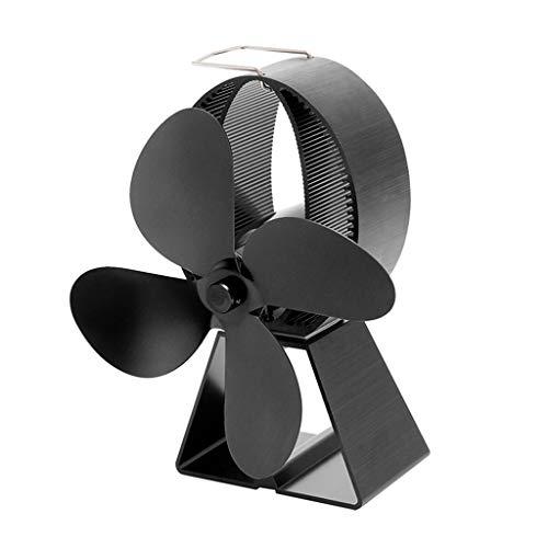 JNTM koekenpan, zwart, ventilator met 4 bladen, open haard, ventilator, warmte