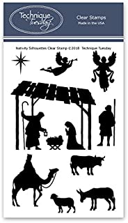 Nativity Silhouettes Clear Stamps | Christmas Stamps - Photopolymer Stamps | Clear Rubber Stamps | Stamps for Card Making | Stamps Christian