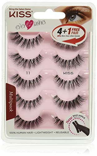 KISS Products Ever EZ Lashes, 5 Pair (Package May Vary), 10 Count