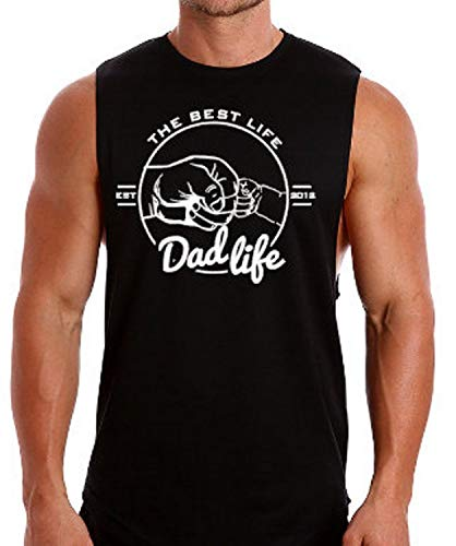 gym tshirts for women men - Personalised Muscle shirt, mens workout tank, new dad Fathers Day gift for him dads shirt, gym shirt for Dad, gym