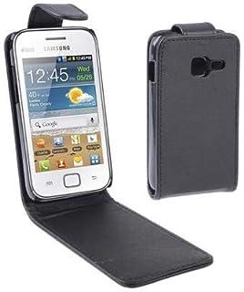 حافظة هاتف من YPShell حافظة جلدية قلابة عموديًا لهاتف Galaxy Ace Duos S6802، أسود